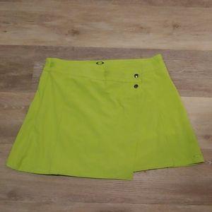 NWT Oakley Women's Lightning Green Piton Skort